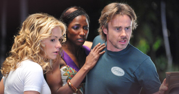 """Anna Paquin, Rutina Wesley, and Sam Trammell in """"True Blood"""""""